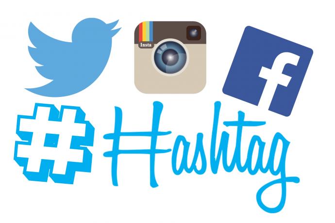 hashtag en las redes sociales Tecnología en los eventos